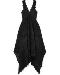 Zimmermann Asymmetric Ed Med Lace Maxi Dress
