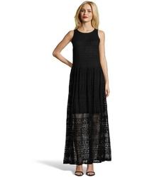 Ivy & Blu Black Lace Sleeveless Maxi Dress