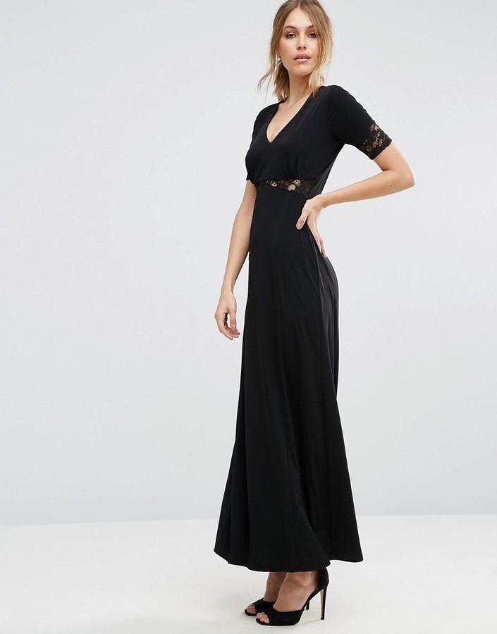 a913c8117f1 ... Asos Lace Back Maxi Tea Dress ...