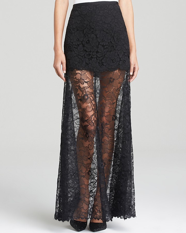 dkny lace maxi skirt where to buy how to wear