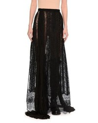 Paneled layered lace maxi skirt medium 5387944
