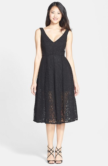 Nordstrom Bardot Rosie Lace Midi Fit Flare Dress Where To Buy
