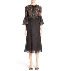 Bell sleeve lace midi dress medium 3746844