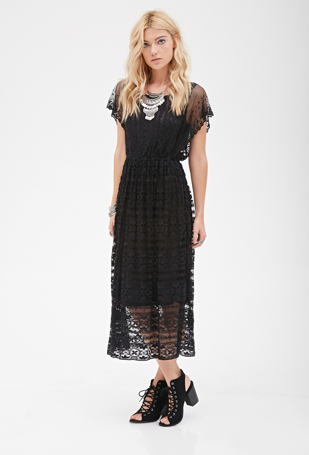 Forever 21 Crochet Lace Midi Dress Where To Buy How To Wear