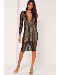 bbe65dc62d77 Women's Black Lace Midi Dresses by Missguided | Women's Fashion ...