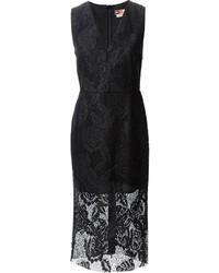 MSGM Sleeveless Lace Midi Dress