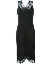 Twin-Set Lace Trim Midi Dress
