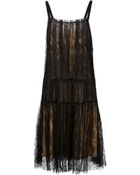 Vera Wang Floral Lace Midi Dress