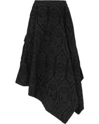 Ganni Asymmetric Broderie Anglaise Cotton Skirt