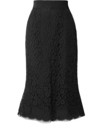 Dolce & Gabbana Cotton Blend Guipure Lace Midi Skirt