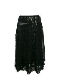 Comme Des Garçons Vintage Embroidered Lace Skirt