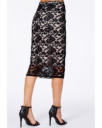 Missguided Graciana Black Lace Midi Skirt | Where to buy & how to wear