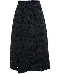 No.21 No21 Black Macrame Midi Skirt