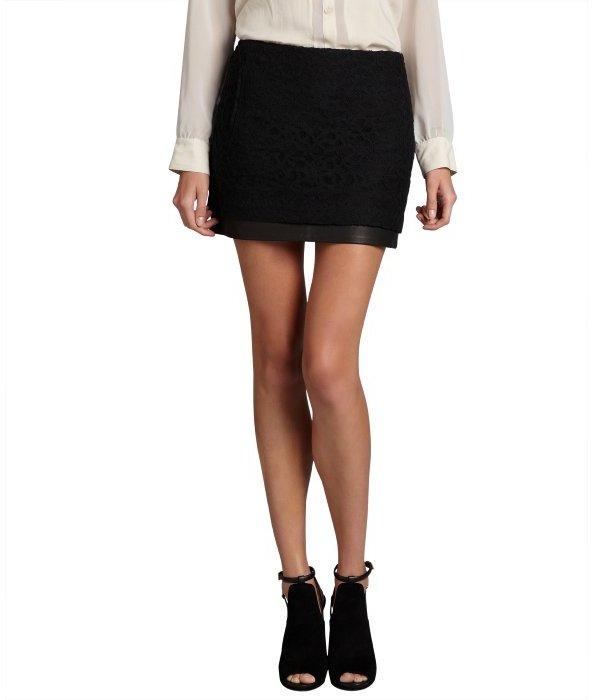 Cheap Online Store Genuine Cheap Price Diane von Furstenberg Leather Mini Skirt 8sXap