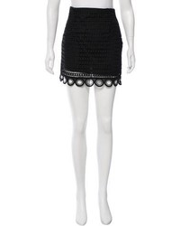 Sandro Guipure Lace Mini Skirt