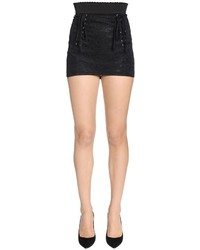 Dolce & Gabbana High Waist Technical Lace Mini Skirt