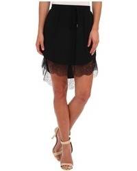 BCBGeneration Lace Trim Hi Lo Skirt