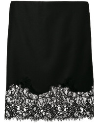 Givenchy Lace Trim Mini Skirt
