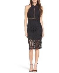 Gemma halter lace sheath dress medium 3752999