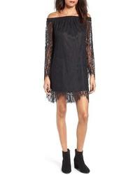 Off the shoulder lace shift dress medium 4990476