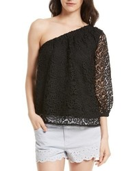 Rebecca Minkoff Harmony One Shoulder Lace Top