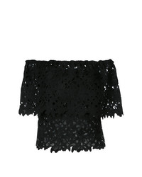 fc4e34f9a8495a Black Lace Off Shoulder Tops for Women