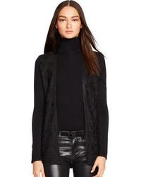 Black Lace Open Cardigan