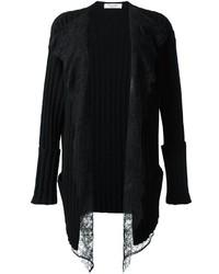 Valentino Lace Panel Cardigan