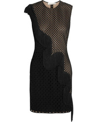 Stella McCartney Asia Fringed Wicker Lace Mini Dress
