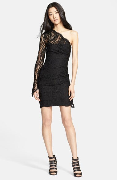black lace one shoulder cocktail dress best dresses