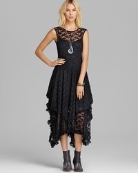 Free People Slip Dress Stretch Lace French Court