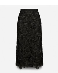 Christopher Kane All Over Love Heart Lace Pencil Skirt