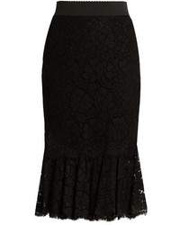 Dolce & Gabbana Cordonetto Lace Fluted Hem Skirt