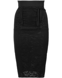 Dolce & Gabbana Corseted Lace Pencil Skirt