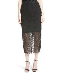 Lace overlay pencil skirt medium 4344244