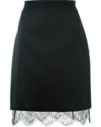 Lanvin Lace Hem Pencil Skirt