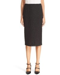 RED Valentino Macrame Lace Pencil Skirt