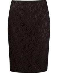 Martha Medeiros Marescot Lace Pencil Skirt