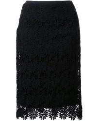 Muveil Lace Pencil Skirt