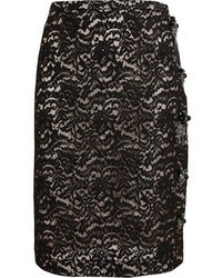 No.21 No 21 Embellished Lace Pencil Skirt