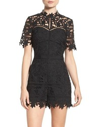Adelyn Rae Adelyn R Illusion Lace Romper