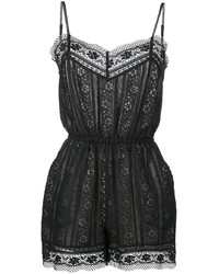 Goenj Lace Panel Playsuit