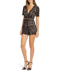 ASTR the Label Grommet Lace Romper