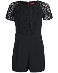 818e7e9d7af4 Boohoo Julie Crochet Insert Short Sleeve Playsuit