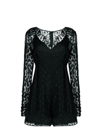 Pinko Lace V Neck Playsuit