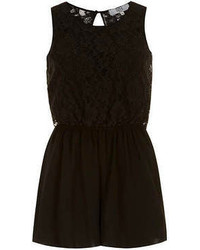 Dorothy Perkins Lola Skye Lace Top 2 In 1 Playsuit