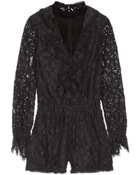 Alexis Ludmila Cutout Ruffled Corded Lace Playsuit