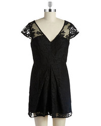 BCBGeneration Pleated Lace Romper