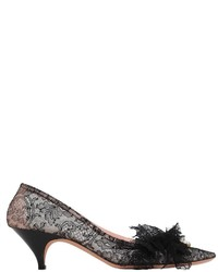Rochas 50mm Mask Mesh Lace Pumps