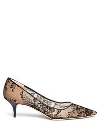 Jimmy Choo Aza Floral Lace Mesh Pumps